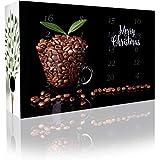 C&T Adventskalender 24 Aromatisierte Kaffees - Flavoured Coffee (Ganze Bohnen) mit vielen leckeren Sorten - Apfelstrudel,Karamell, Irish Cream, Zimtschnecken, Vanille-Toffee - Weihnachts-Kalender für Erwachsene - Aromatisierter Kaffee
