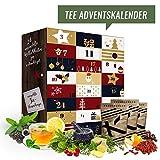 Tee Adventskalender mit 24 edlen Tees aus aller Welt (Tee Reise) I Teekalender als Geschenk für Erwachsene I Weihnachtskalender mit Tee Geschenkset