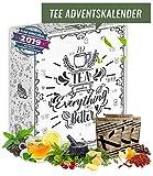 Tee Adventskalender I Weihnachtskalender mit 24 aromatischen Teesorten I Geschenkset in der Weihnachtszeit Adventszeit I Auszeit für Teeliebhaber