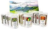 Tee Probierpaket ' Einmal um die Welt ' im edlen Geschenkpaket 12 x 25 g
