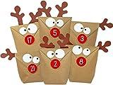 KuschelICH DIY Adventskalender Elch zum Befüllen - alle Teile gestanzt - inkl. Klebematerial - Neuauflage des Original Elchtütenkalenders - wiederverwendbar - Weihnachtskalender