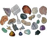 24 Edelsteine und Mineralien zum Befüllen Adventskalender Rohstücke Figuren und Anhänger