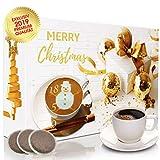 C&T Adventskalender mit hochwertigem Kaffee (Gold, Kaffeepads) 2019 - 24 Senseo-Kompatible Kaffeepads - Kaffee aus Aller Welt - Weihnachts-Kalender