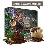 Kaffee-Adventskalender I Weihnachtskalender mit 24 köstlichen Kaffees aus aller Welt I Kaffeeweltreise erlesener feiner gemahlener Kaffee als Probierset